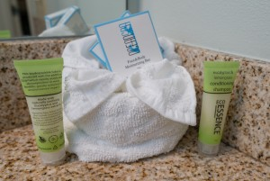 Signature toiletries at Morro Shores Inn