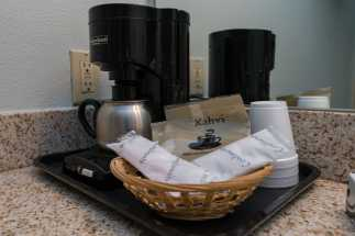 Morro Shores Inn Guest Rooms - Single Serve Coffee Makers in every room