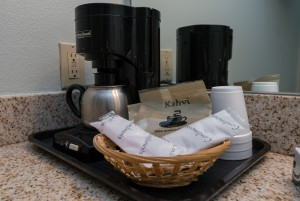 Enjoy in-room coffee at Morro Shores Inn